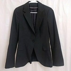 Zara Basic Charcoal Blazer Sz 2